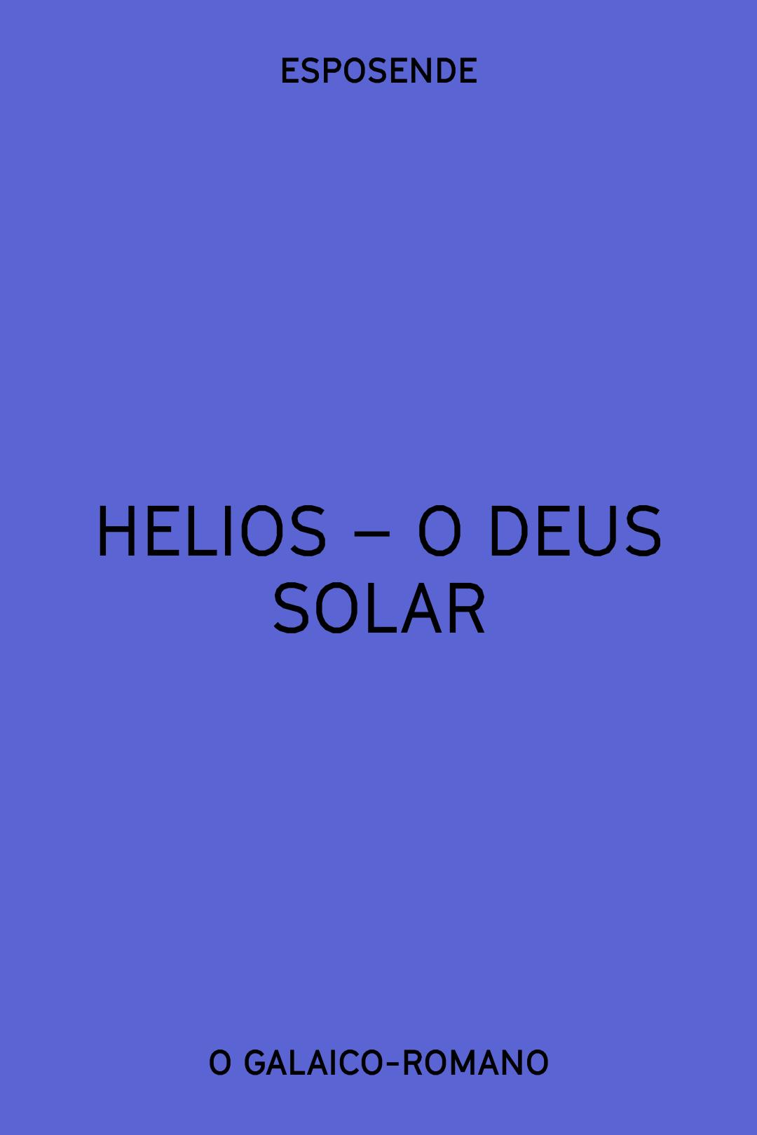 HELIOS - O DEUS SOLAR