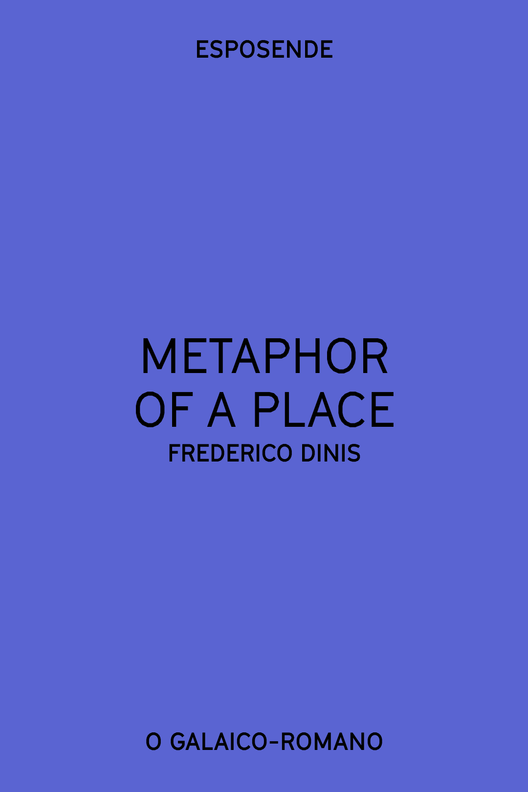 METAPHOR OF A PLACE (Frederico Dinis)